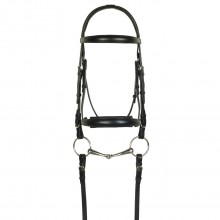 Aramas® Raised ZERO Shaped Padded Dressage Bridle with SureGrip Reins