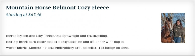 Mountain Horse Belmont Cozy Fleece